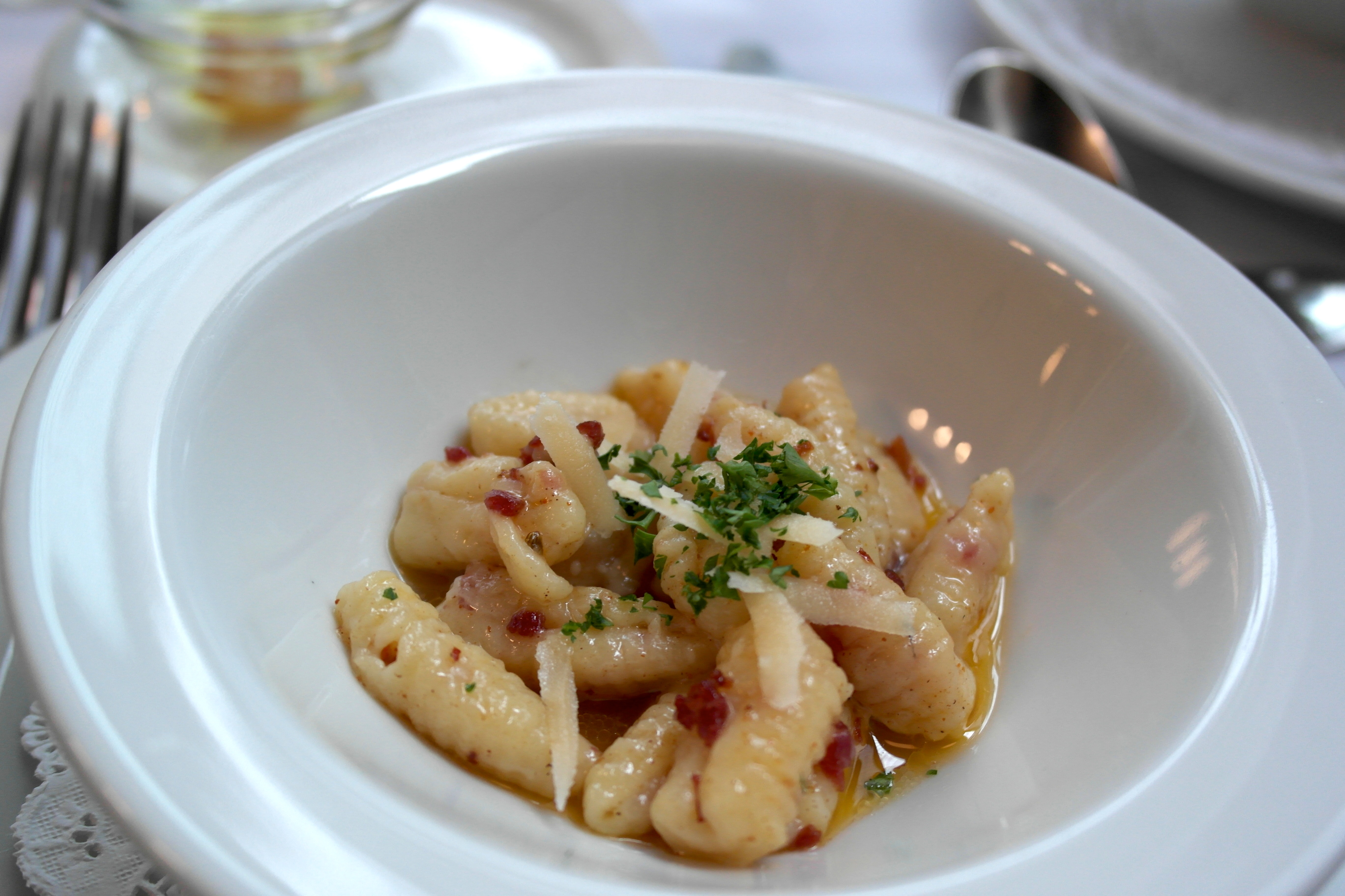 Royal Cavatelli with Parmesan Brodo